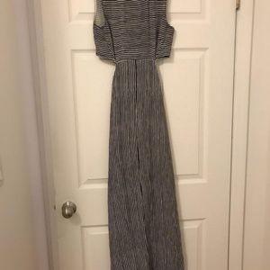 A.L.C. Dresses - A.L.C. Black and White Long Silk Cocktail Dress